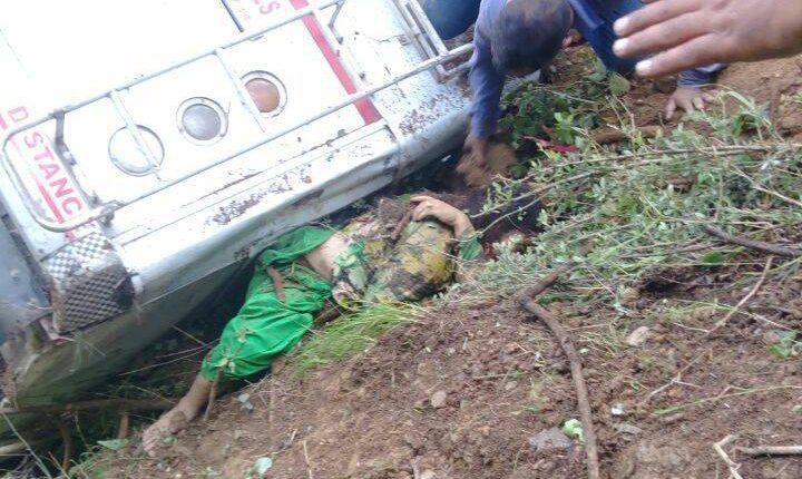 मंडी:थुनाग में एक निजी बस दुघर्टनाग्रस्त, चालक सहित 5 लोगों की मौत
